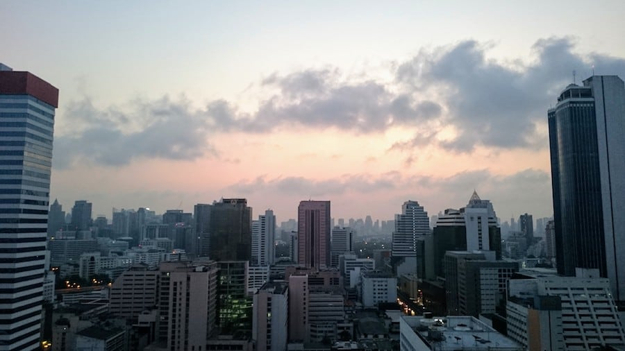 silom itf tower sunset