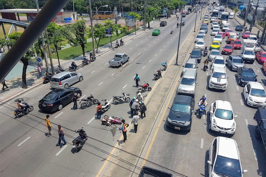 bangkok motorbike accident