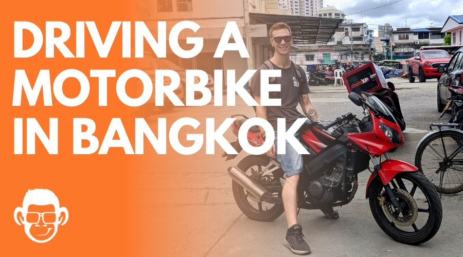 driving a motorbike in Bangkok blog post cover for mojomatt