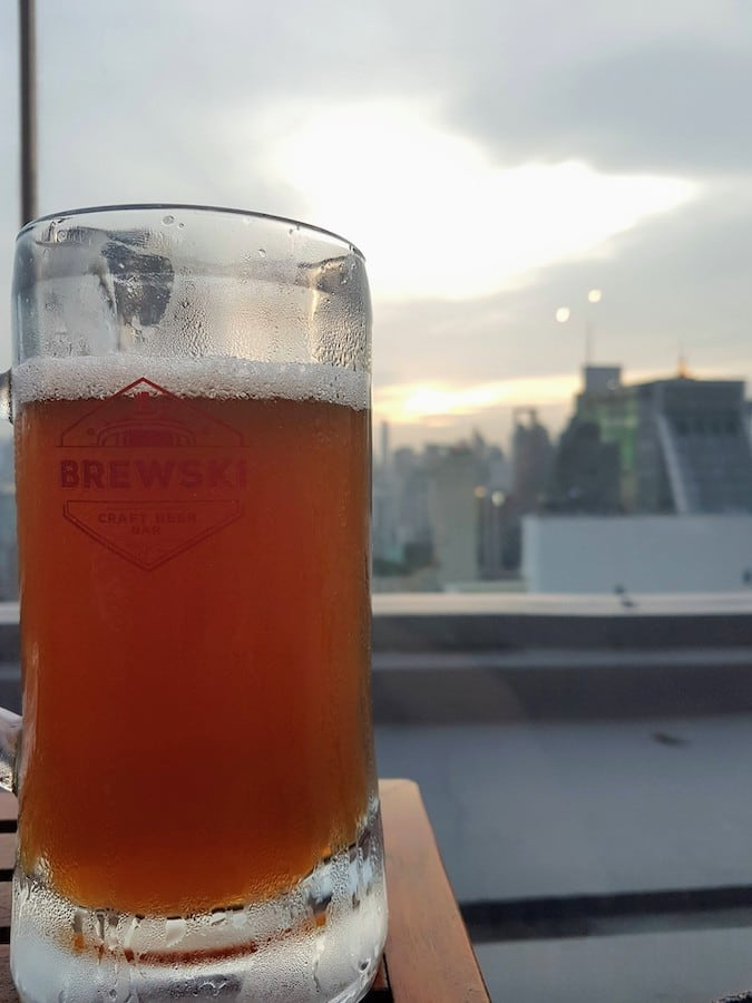 brewski bangkok craft beer sunset