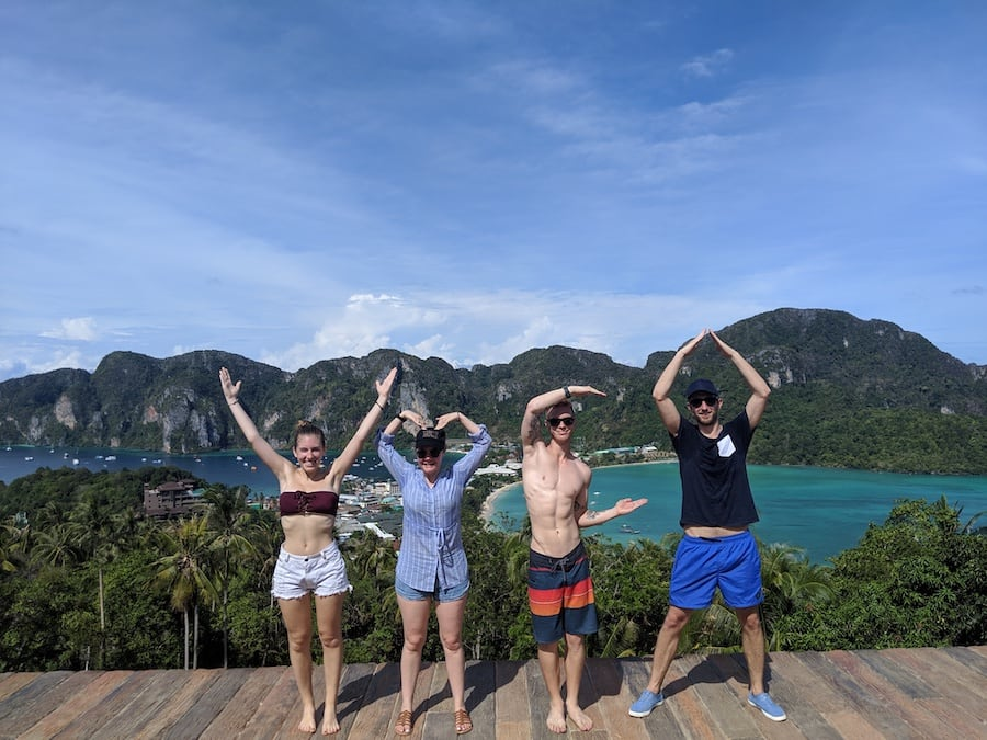koh phi phi viewpoint ymca pose
