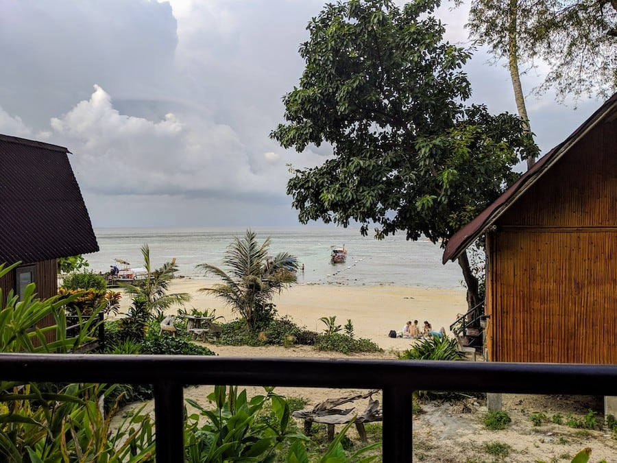 the cove phi phi beach room view