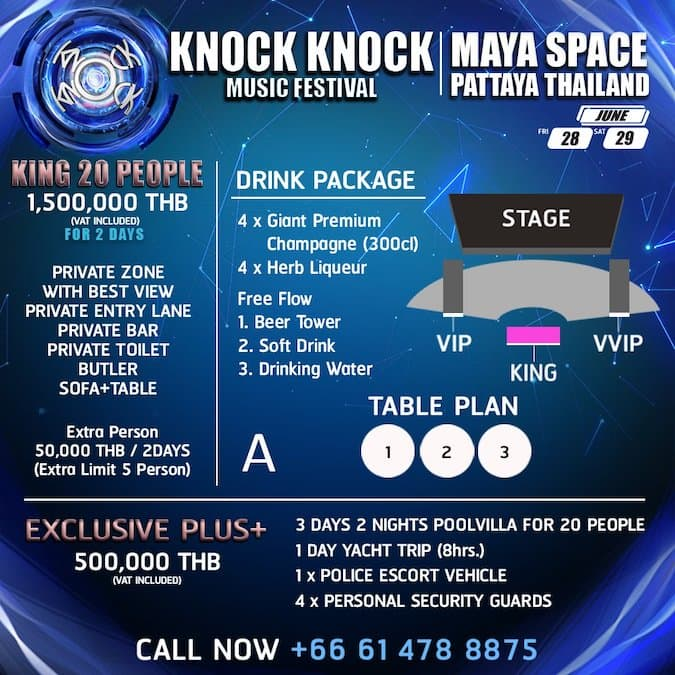 knock knock pattaya 2019 king package