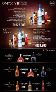 onyx bangkok vip packages
