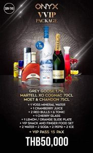 onyx vvip packages