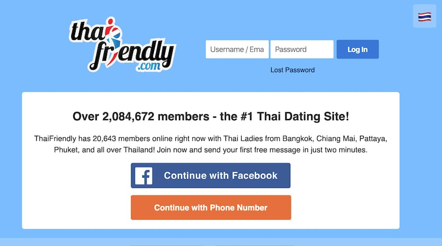 thai friendly homepage