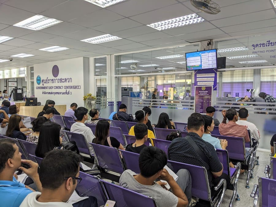 waiting for the thai driving license in Bangkok