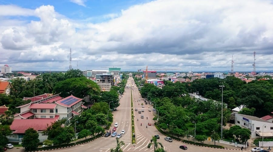 Ave Lane Xange in Vientiane Laos
