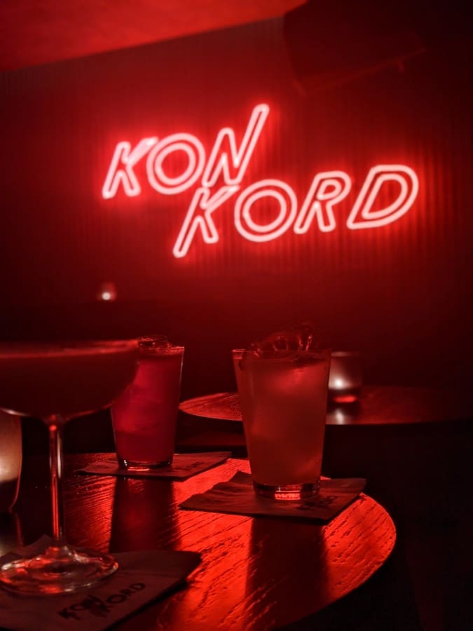 cocktails at konkord cocktail bar