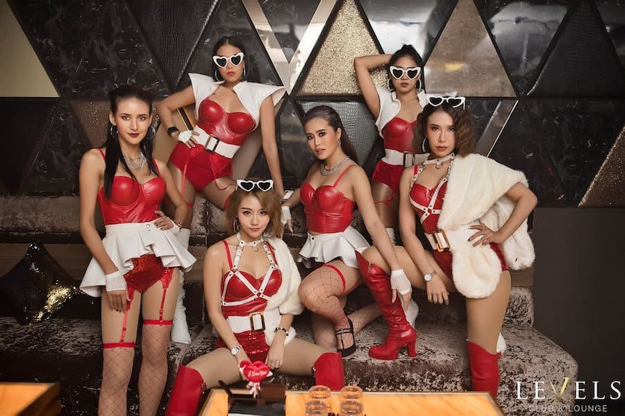 Dancers of Levels Club in Bangkok