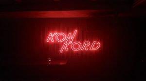 neon sign of konkord bar in Bangkok