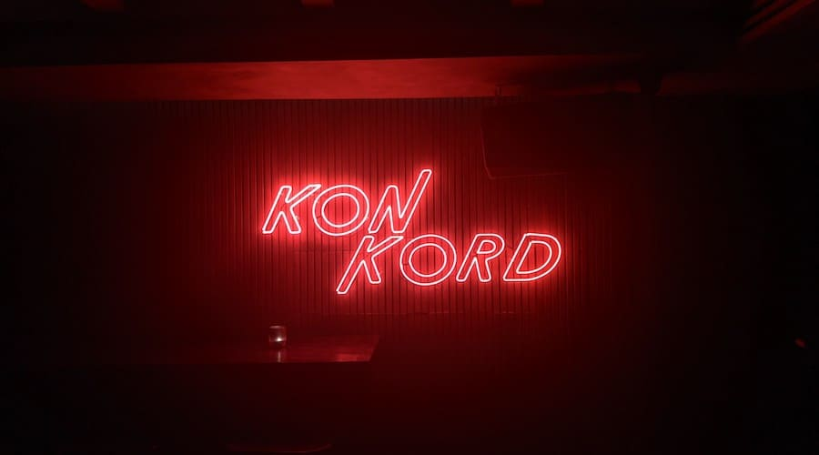 neon sign of konkord bar in Bangkok