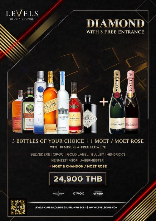 Package at Levels Club in Bangkok