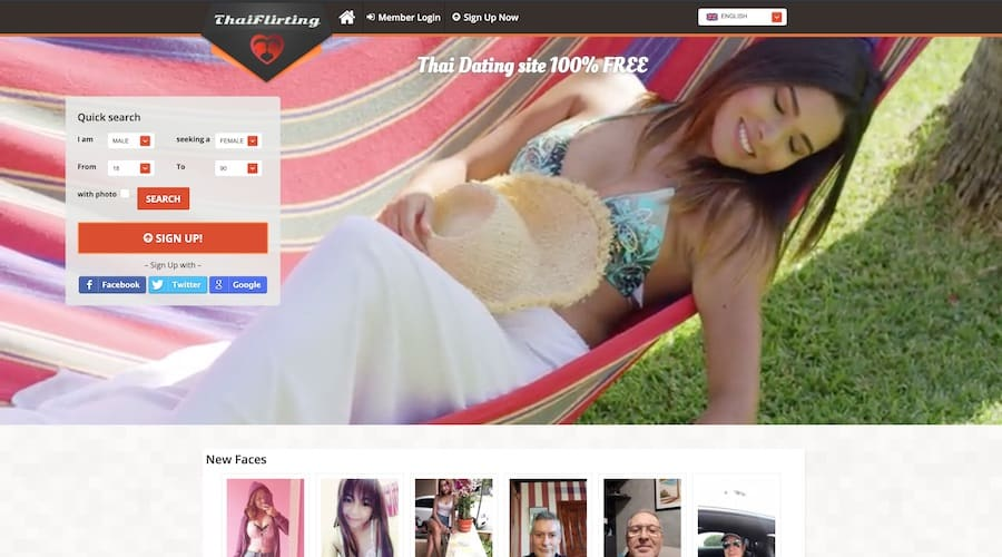 thai flirting sign up page