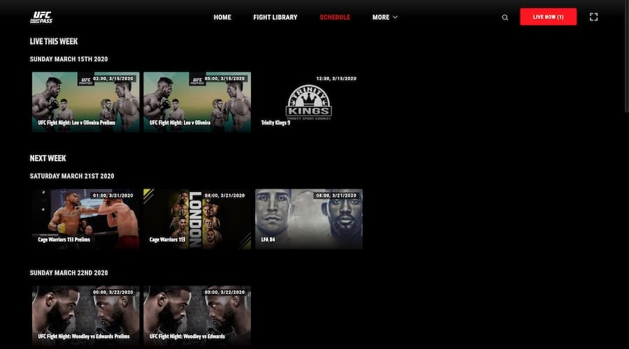 fight pass live events