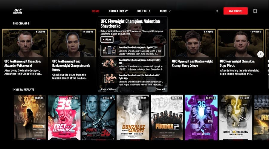 content on ufc fight pass