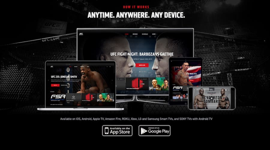 ufc fight pass devices