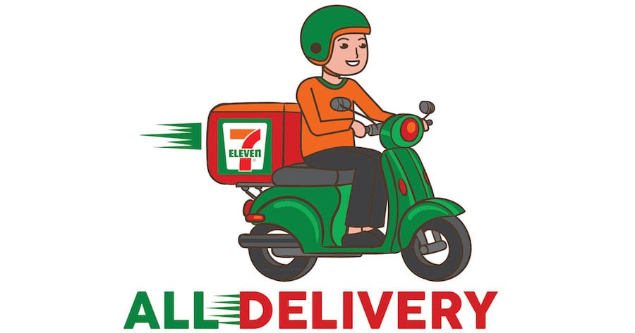 7 eleven Thailand scooter all delivery