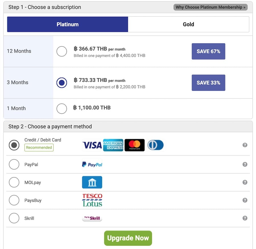 pricing and payment options for asiandating