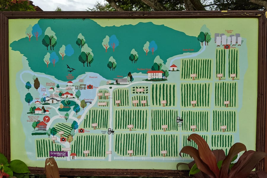 map of granmonte property in khao yai