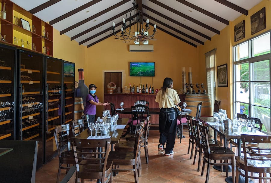 tasting room at granmonte property in khao yai