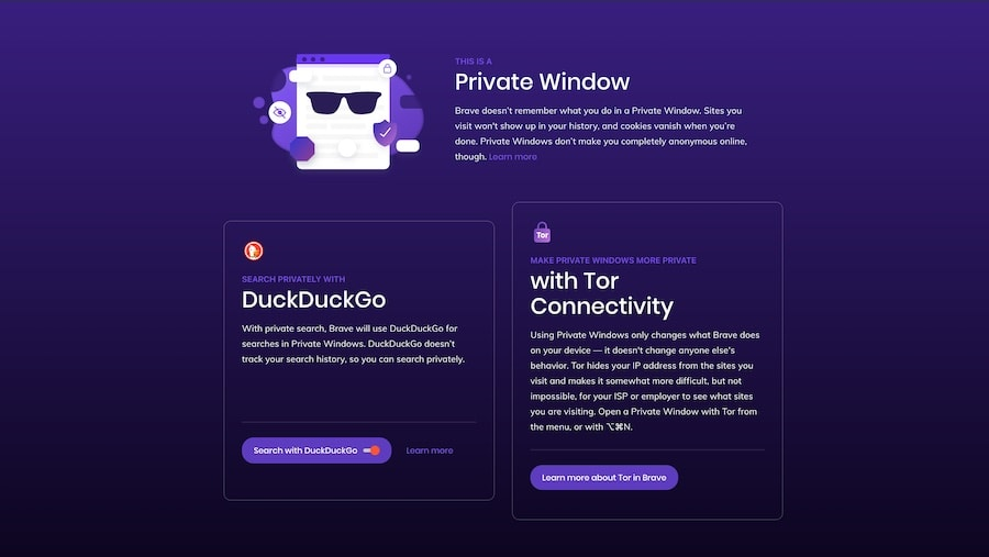 private window in brave browser